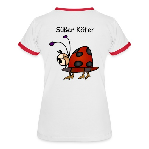 Girlie - Süßer Käfer - Frauen Kontrast-T-Shirt