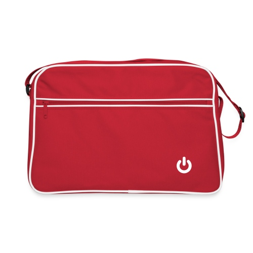 Retro bag with power logo. Perfect for laptops and dokuments. - Retro veske
