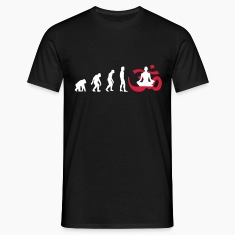 Evolution Yoga Buddhist Meditation T-Shirts