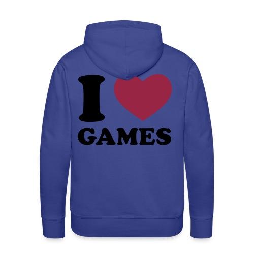 I Love Games - Männer Premium Hoodie
