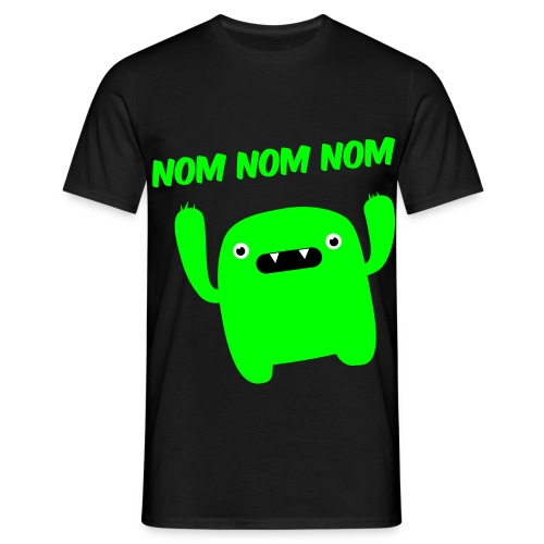 Black & Green NOM NOM NOM T-Shirt - Men's T-Shirt