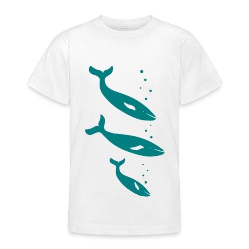 t-shirt wal wale delfin delphin orca orka blauwal meer fisch ozean tier shirt - Teenager T-Shirt