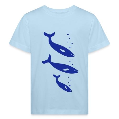 t-shirt wal wale delfin delphin orca orka blauwal meer fisch ozean tier shirt - Kinder Bio-T-Shirt
