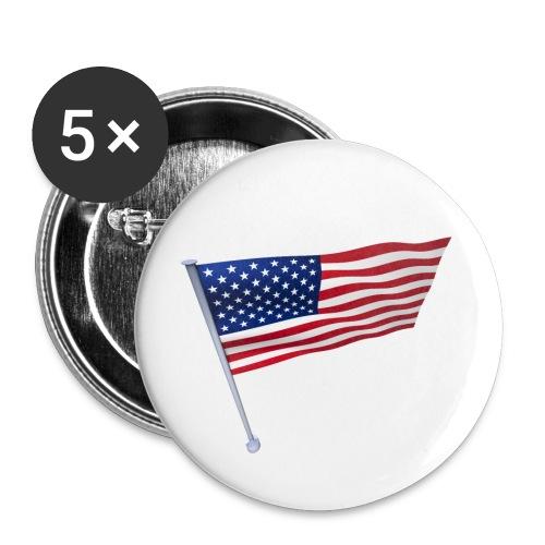 USA Shirt - Lot de 5 petits badges (25 mm)