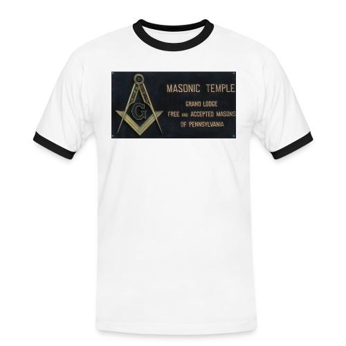 Masonic Temple-Kickers - Männer Kontrast-T-Shirt
