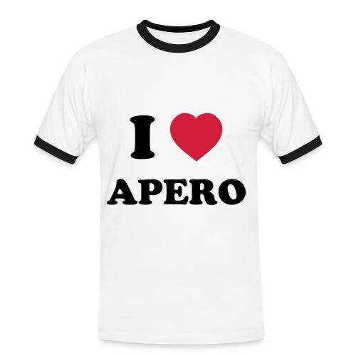 T shirt I Love Apero Beurk - T-shirt contrasté Homme