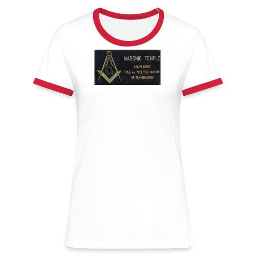 Masonic Temple-Girlie - Frauen Kontrast-T-Shirt