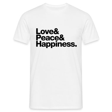 love peace happiness T-Shirts