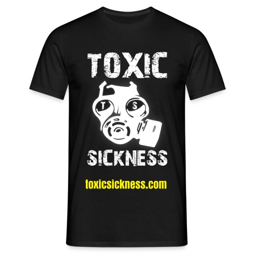 Mens black Toxic Sickness t-shirt - Men's T-Shirt