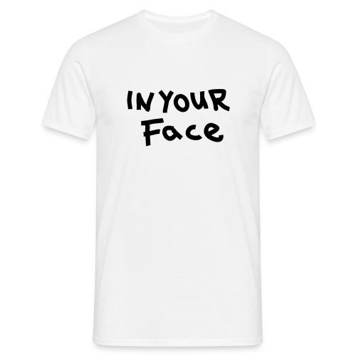 Face - T-skjorte for menn