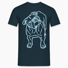 Bulldog Design T Shirt