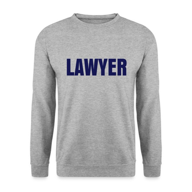 LAWYER BLUE logo Sweat