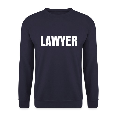 LAWYER White logo Sweat - Men's Sweatshirt