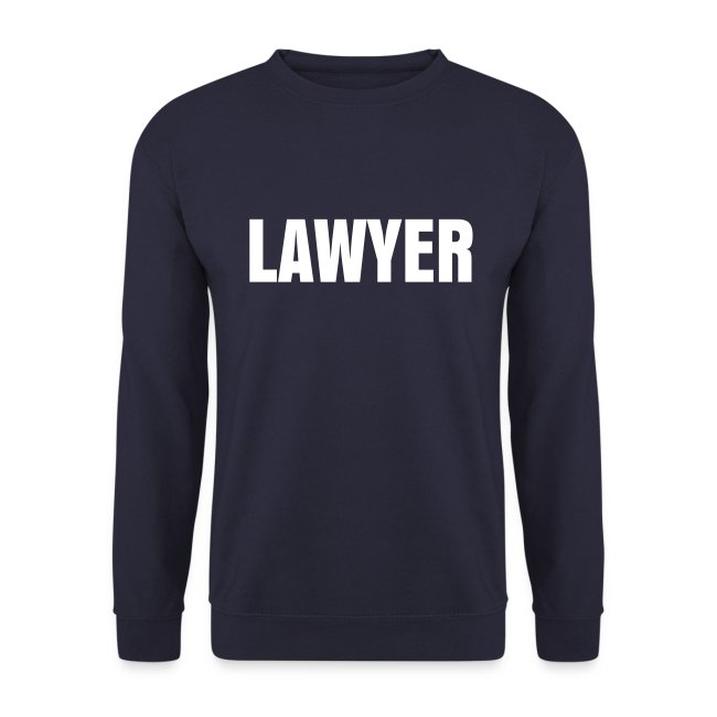 LAWYER White logo Sweat