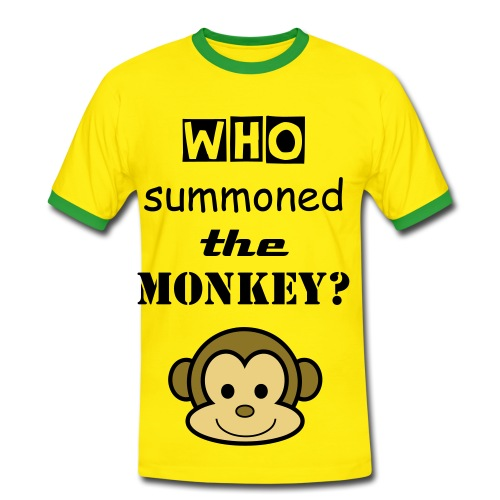 Who summoned the Monkey? - Men's Ringer Shirt