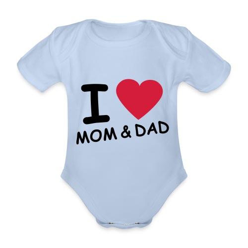Body I love mom & dad - Body bébé bio manches courtes