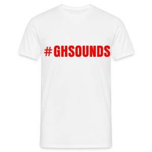 #GHSounds - Red writing - Men's T-Shirt