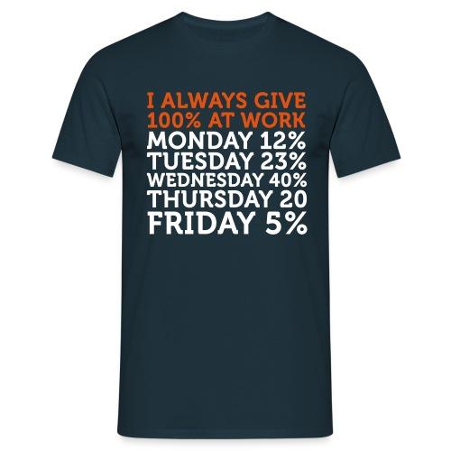 AT_WORK_MARINE_ORANGE_BLANC - T-shirt Homme