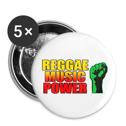Badge Reggae music power - Badge petit 25 mm