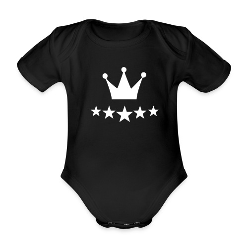 Kongsdal - Kortærmet babybody, økologisk bomuld