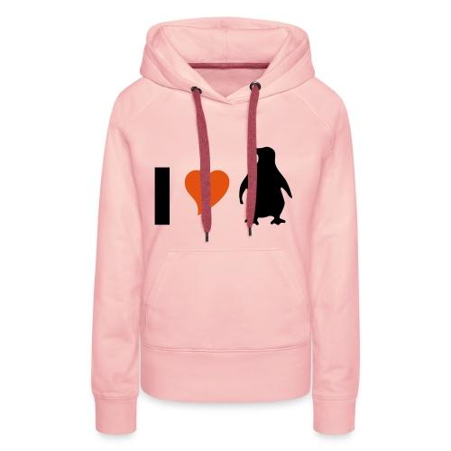 I love Pinguine - Frauen Premium Hoodie