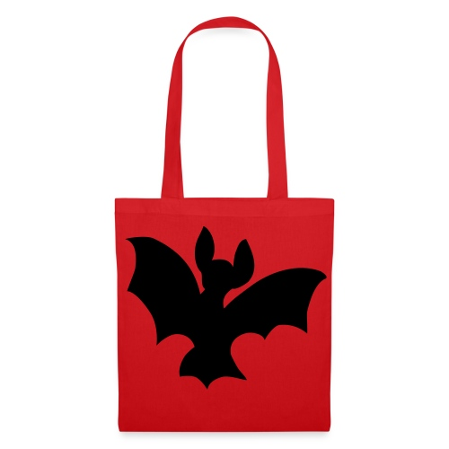 Tasche mit Fledermaus - Stoffbeutel