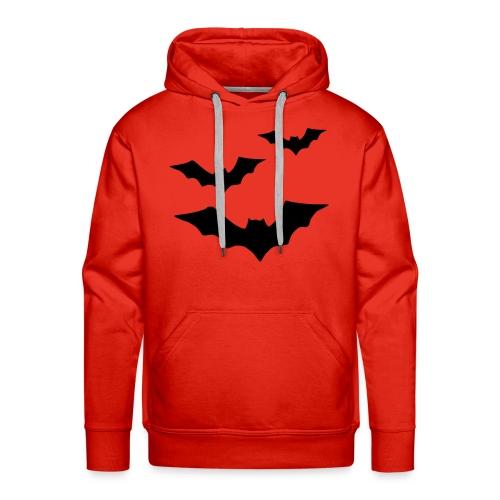 Männer Pullover mit Fledermäusen - Männer Premium Hoodie