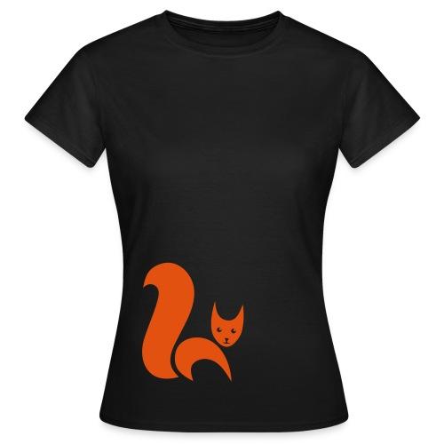 shirt fuchs eichhörnchen fox foxy squirrel eichkatzl schweif wald tier shirt tiermotiv - Frauen T-Shirt