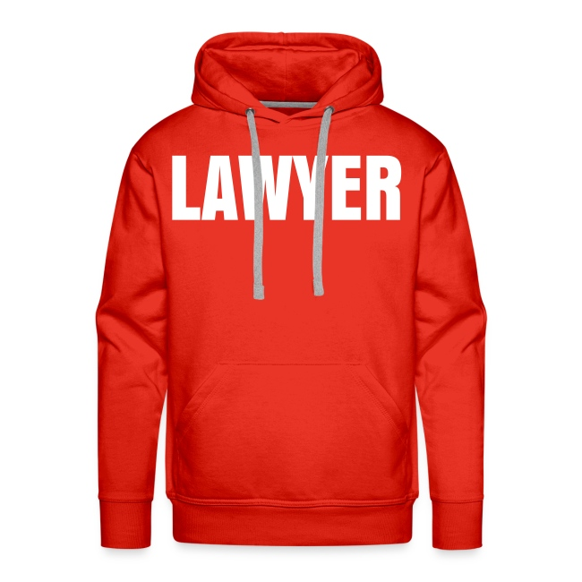 LAWYER White Logo Hoodie