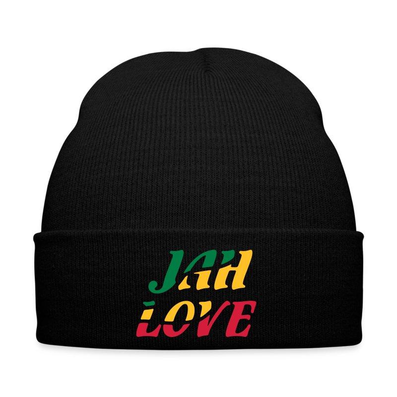 schwarze Reggae Mütze Jah Love - Wintermütze