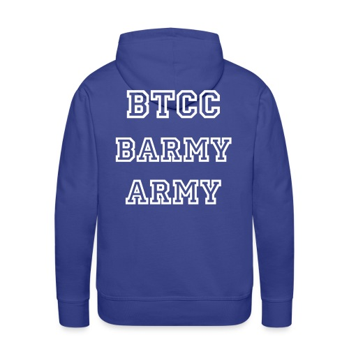 NEW DESIGN - BARMY ARMY ON BACK NO TEXT ON FRONT - Men's Premium Hoodie