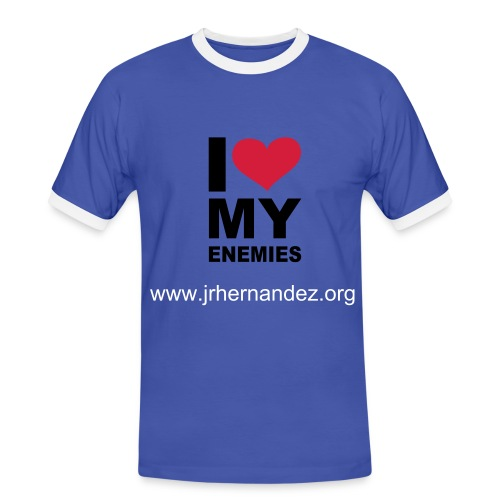 I Love My Enemies - Männer Kontrast-T-Shirt