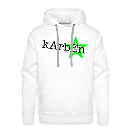 Men's White Karben Hoody - Men's Premium Hoodie