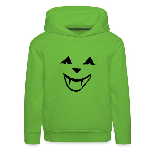 Kinder Kapuzenpullover Halloween Kürbisgesicht - Kinder Premium Hoodie
