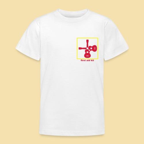 Kidshirt: first aid kit (Motiv rot/gelb) - Teenager T-Shirt
