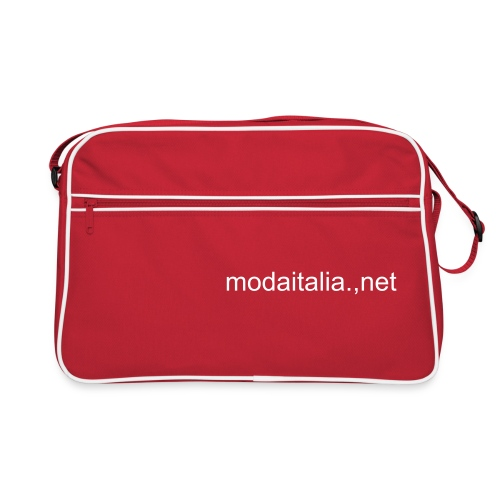 Red Bag with modaitalia.net logo - Borsa retrò