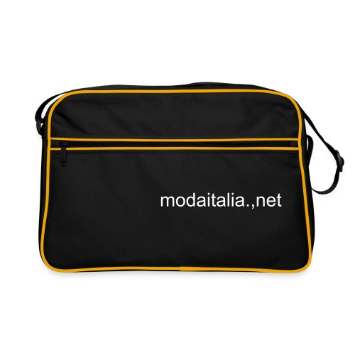 Black Bag with modaitalia.net logo - Borsa retrò