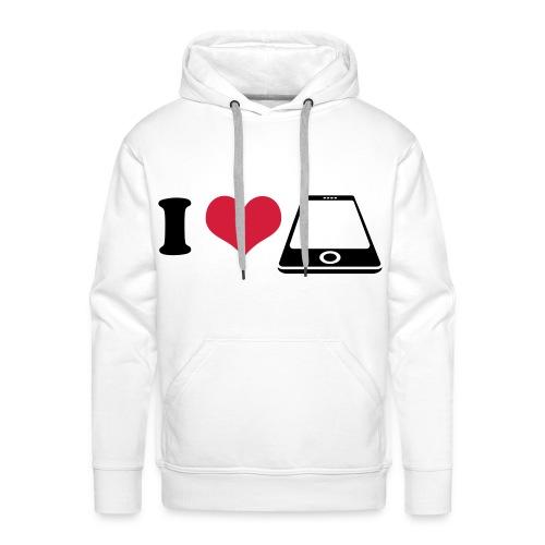 Sweater I love phone - Mannen Premium hoodie