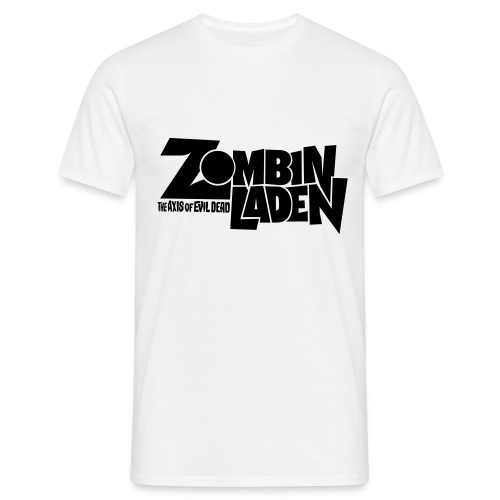 ZOMBINLADEN  Black LOGO MEN TSHIRT - T-shirt Homme