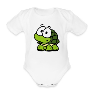 sweet turtle - Baby Bio-Kurzarm-Body