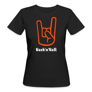 Rock'n'Roll Pommesgabel - Frauen -Shirt - Frauen Bio-T-Shirt
