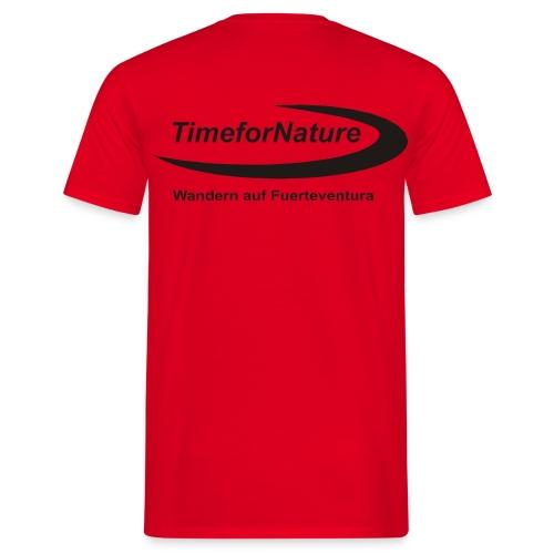 TimeforNature-Shirt für Herren mit Logo rückseitig - Männer T-Shirt