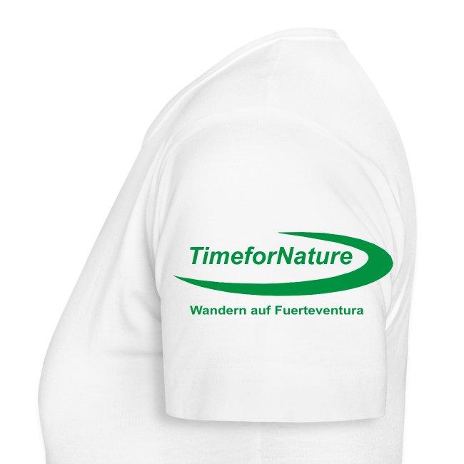 TimeforNature-Shirt für Damen mit Logo linker Ärmel