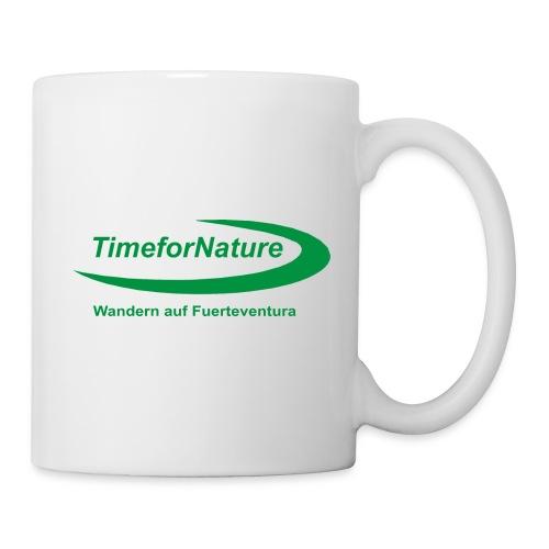 Keramik-Tasse mit TimeforNature-Logo einseitig - Tasse