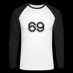 sixty nine 69 - Men's Long Sleeve Baseball T-Shirt