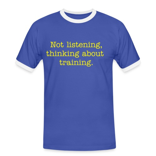 thinking about triathlon - Men's Ringer Shirt