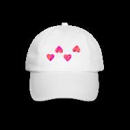 Caps & Mützen ~ Baseballkappe ~ Base-Cap mit 4 Herzen