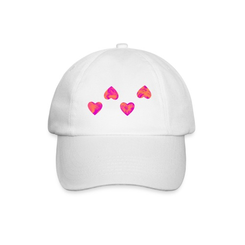 Base-Cap mit 4 Herzen - Baseballkappe