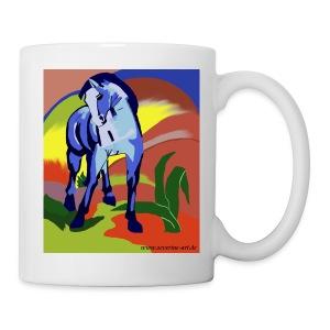 Blaues Pferd nach Franz Marc - Tasse