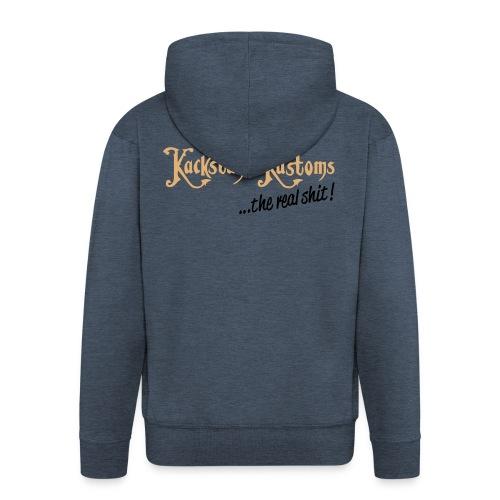 Kackstuhl Kapuzenjacke, granit  - Männer Premium Kapuzenjacke